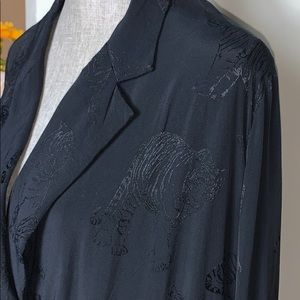 Zara Black Sexy Tiger Jacket